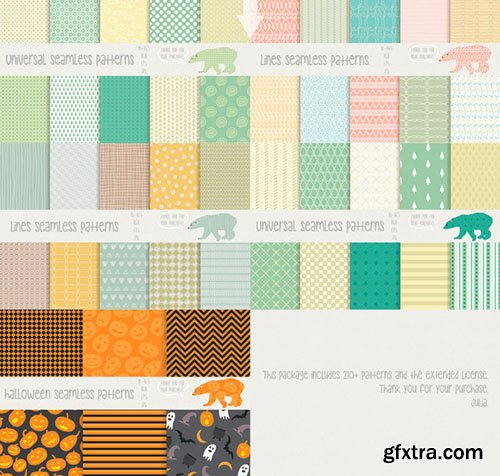 CreativeMarket 210+ patterns [90% OFF] 283519