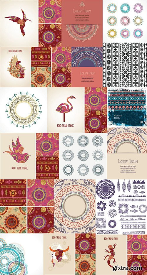 Tribal & Ethnic Ornaments 2 - 25x EPS