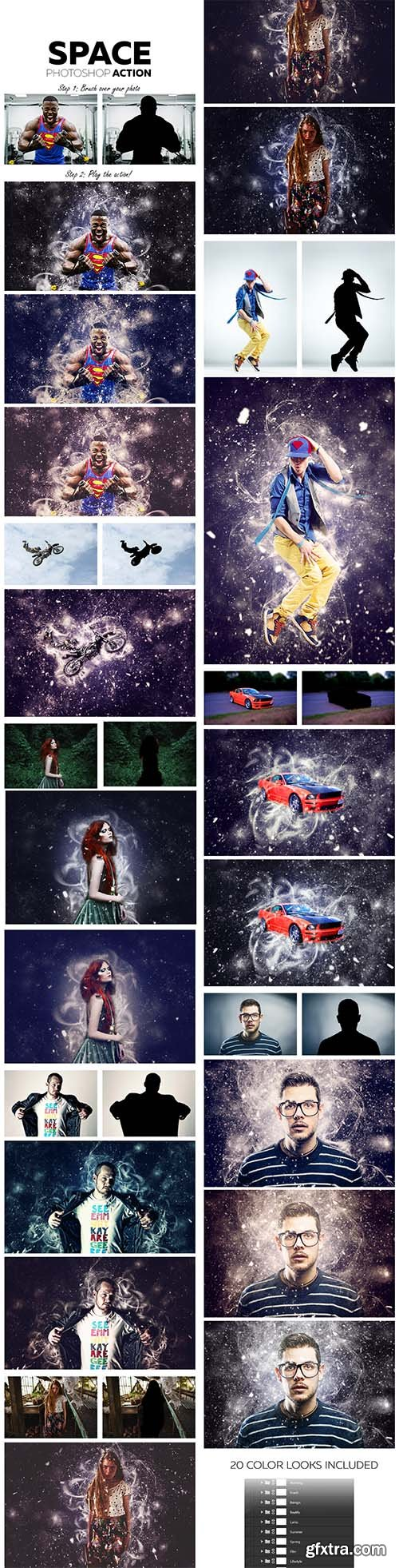 GraphicRiver - Space Photoshop Action 12165749