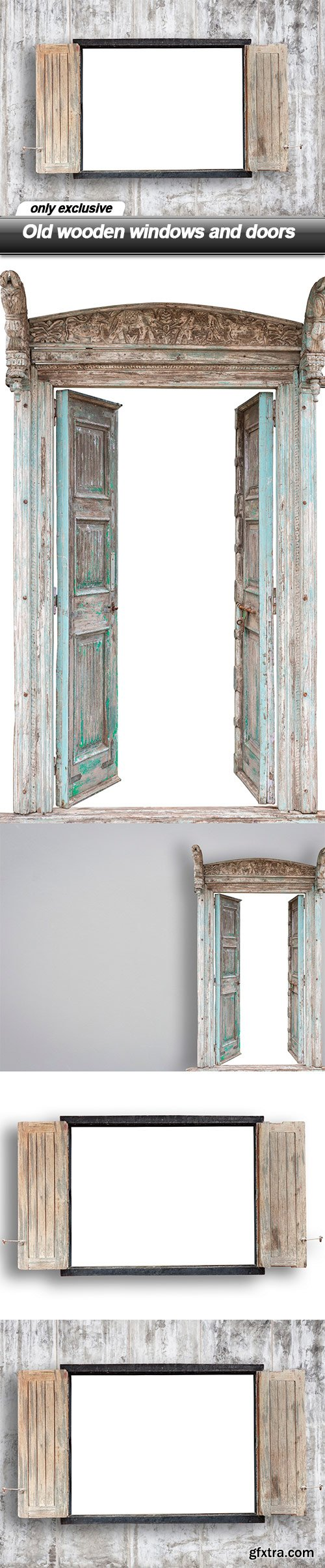 Old wooden windows and doors - 4 UHQ JPEG
