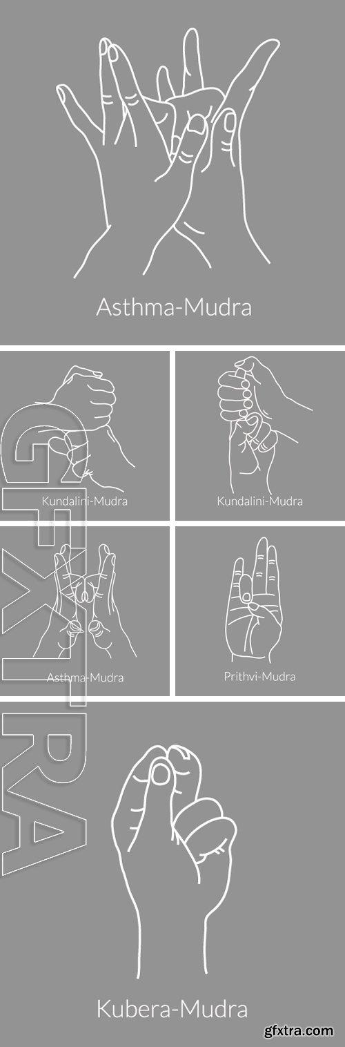 Stock Vectors - Yoga mudra. Gesture hands