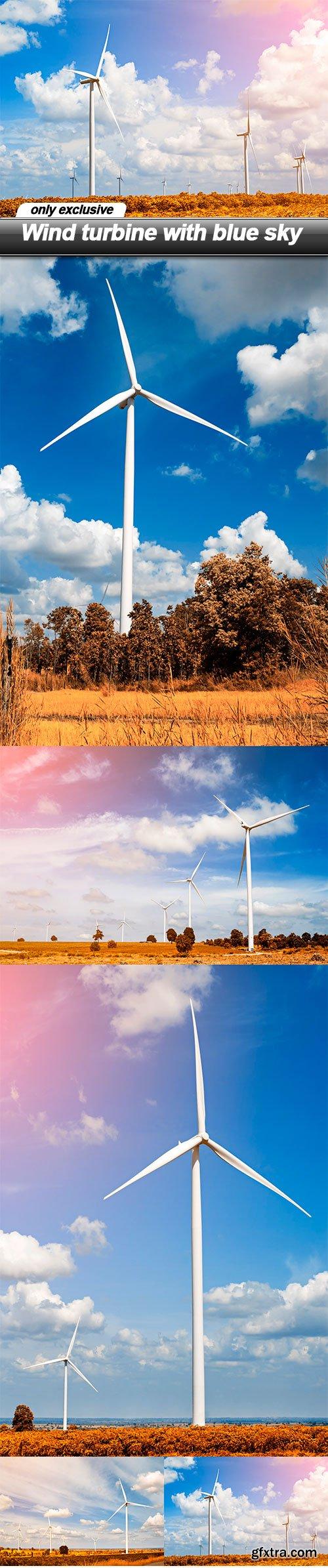 Wind turbine with blue sky - 5 UHQ JPEG