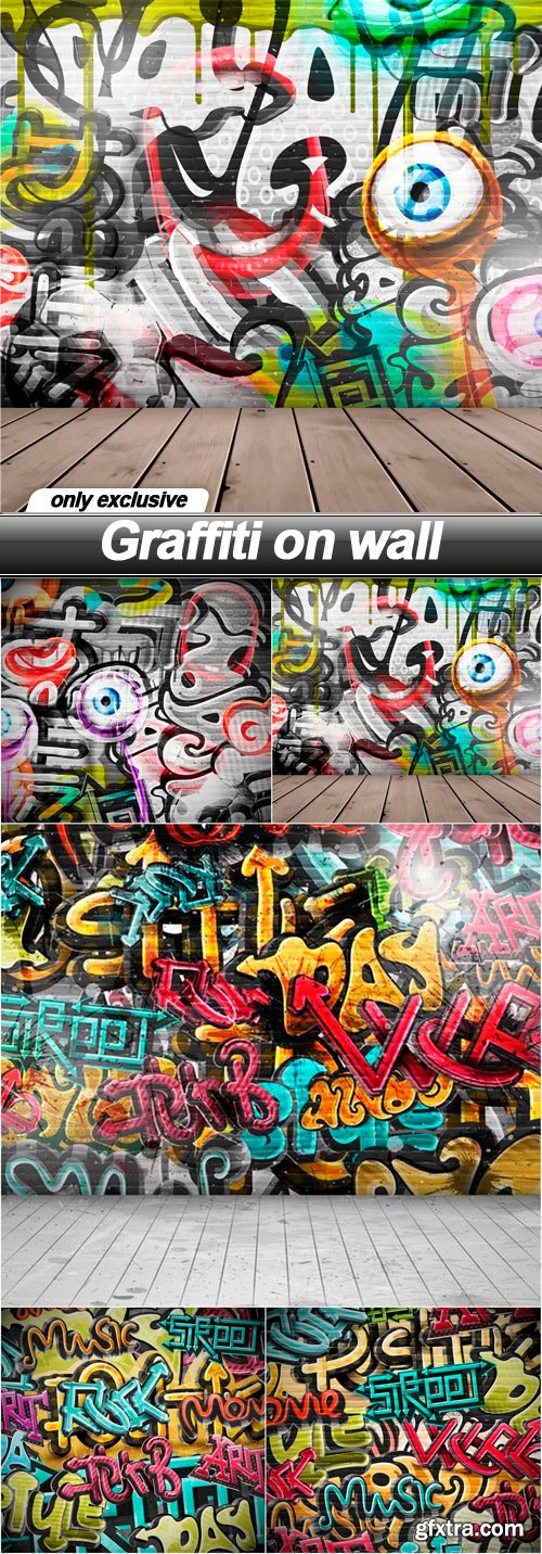Graffiti on wall - 5 EPS