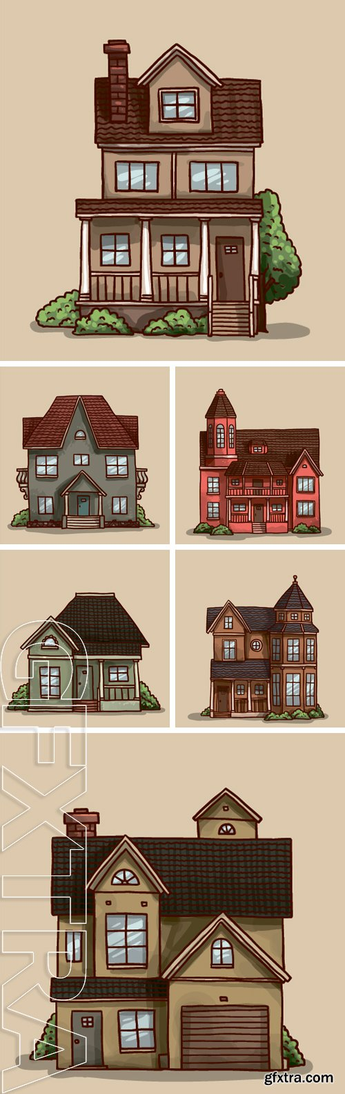 Stock Vectors - Small cute house, vector