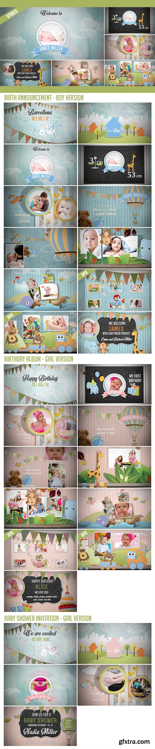 VideoHive - Birth Announcement - Baby Photo Album