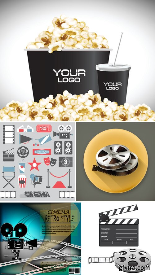 Stock Vectors - Cinema and Film 3
