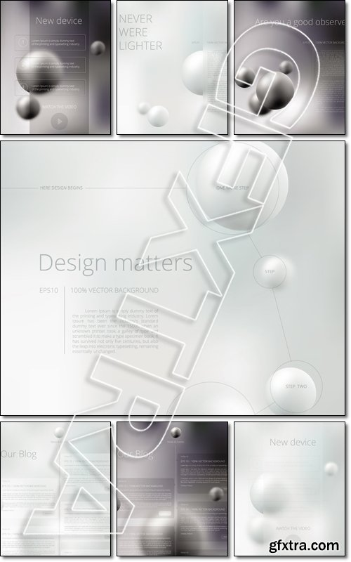 Abstract vector background for your business presentation design - Vector