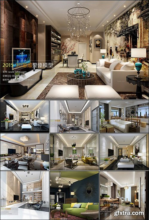 Modern Style Livingroom 3D66 Interior 2015 Vol 3