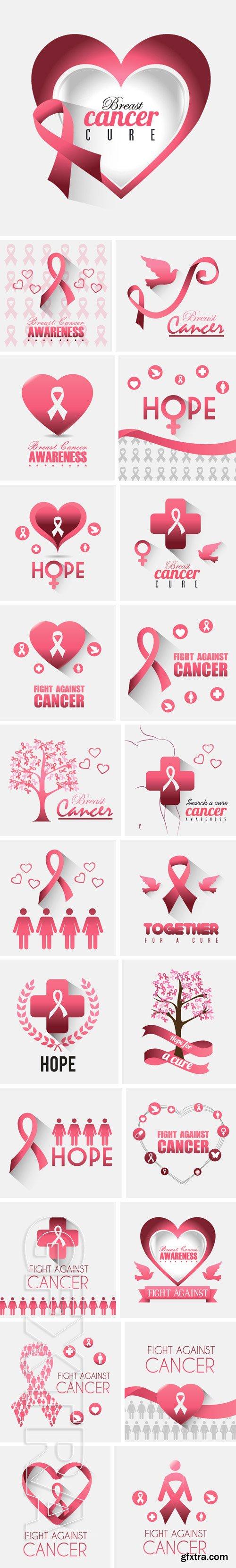 Stock Vectors - Breast cancer design, vector illustration