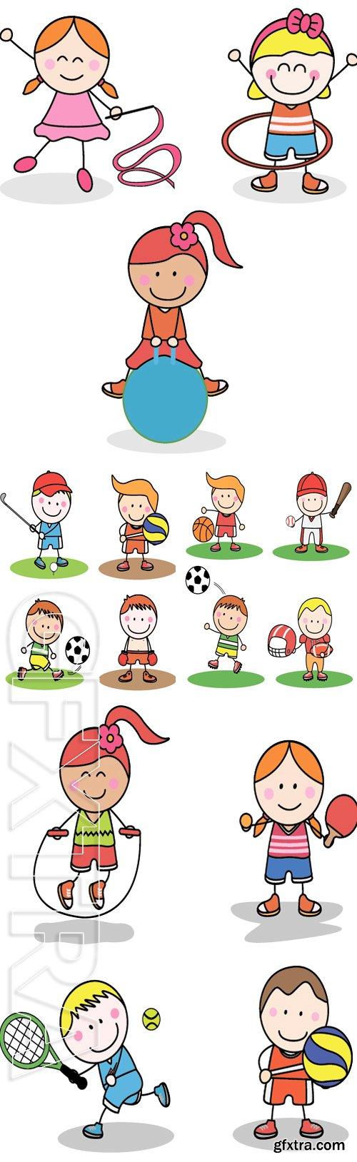 Stock Vectors - Kids sport collection