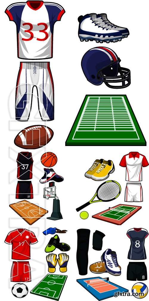 Stock Vectors - Sports, its variety and clothing