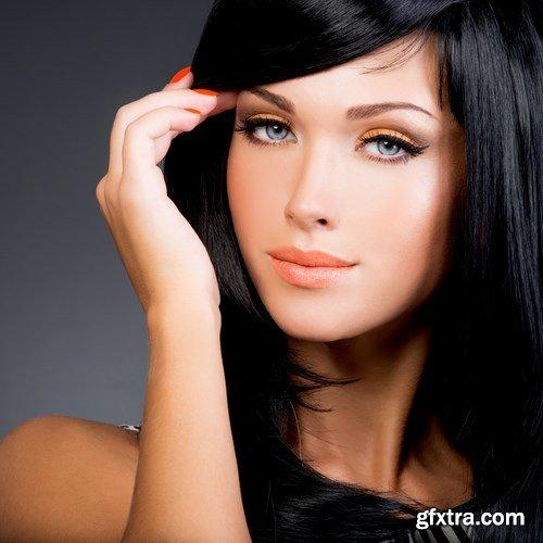 Beautiful woman with long straight hair - 5 UHQ JPEG