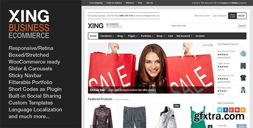 ThemeForest - Xing v1.7.0 - Business / ecommerce WordPress Theme - 2953363