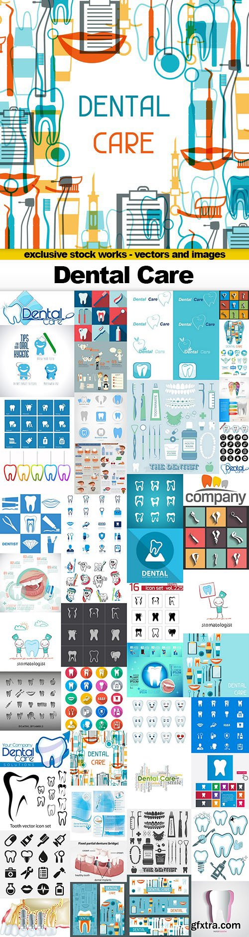 Dental Care Vector Collection - 25x EPS