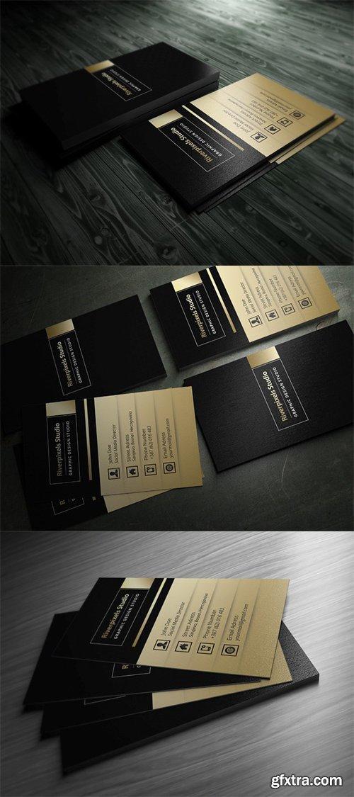 CM - Dark Gold Business Card 330702