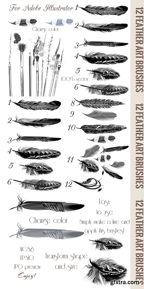 CM - Feather brushes for illustrator 329141