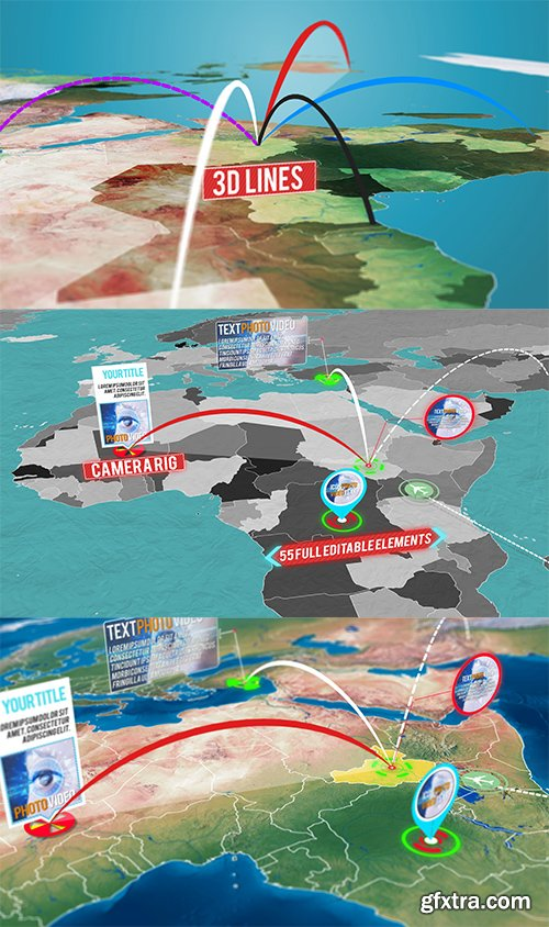 Videohive 3D World Map Pro Kit 11602298