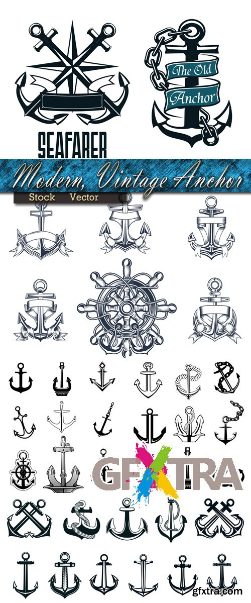 Modern and ancient icons of Anchors