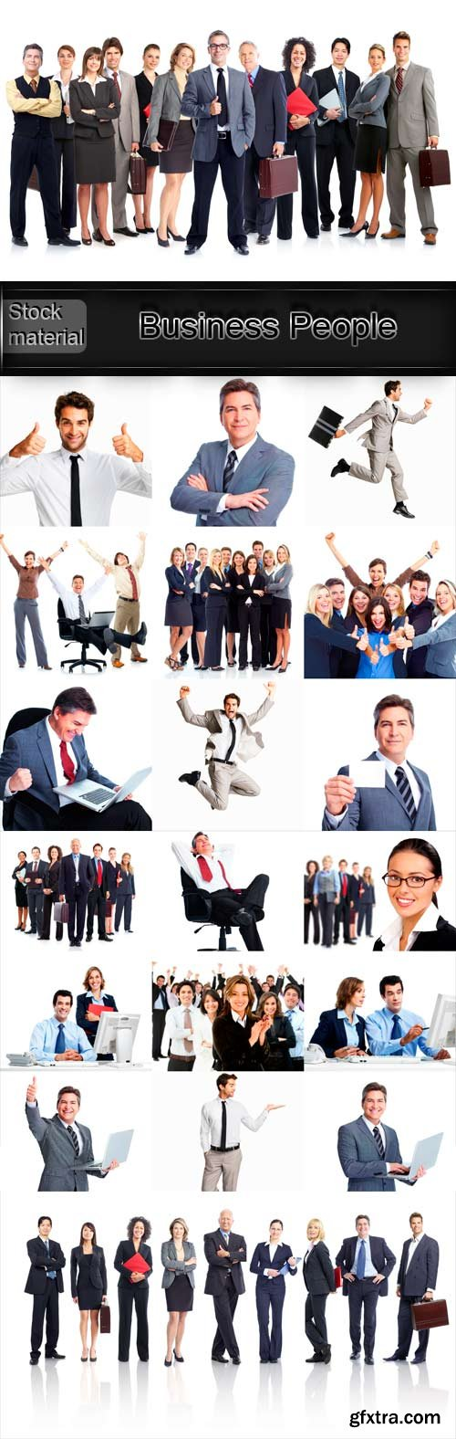 Business People raster graphics