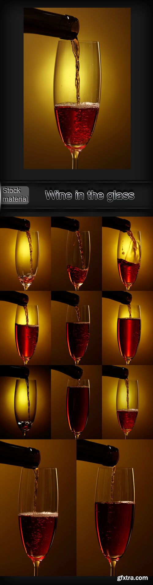 Wine in the glass raster graphics