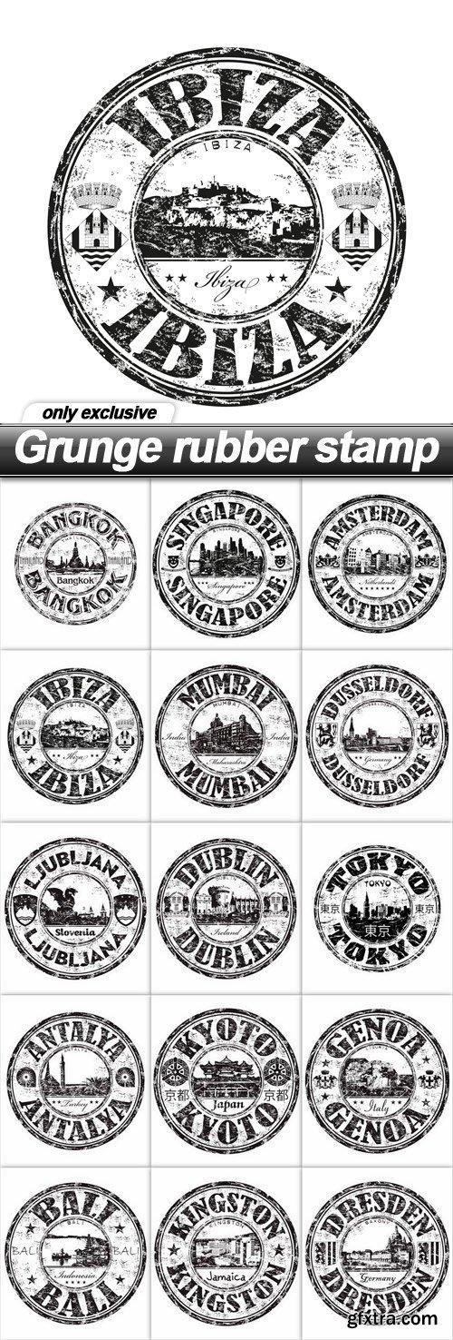 Grunge rubber stamp - 15 EPS