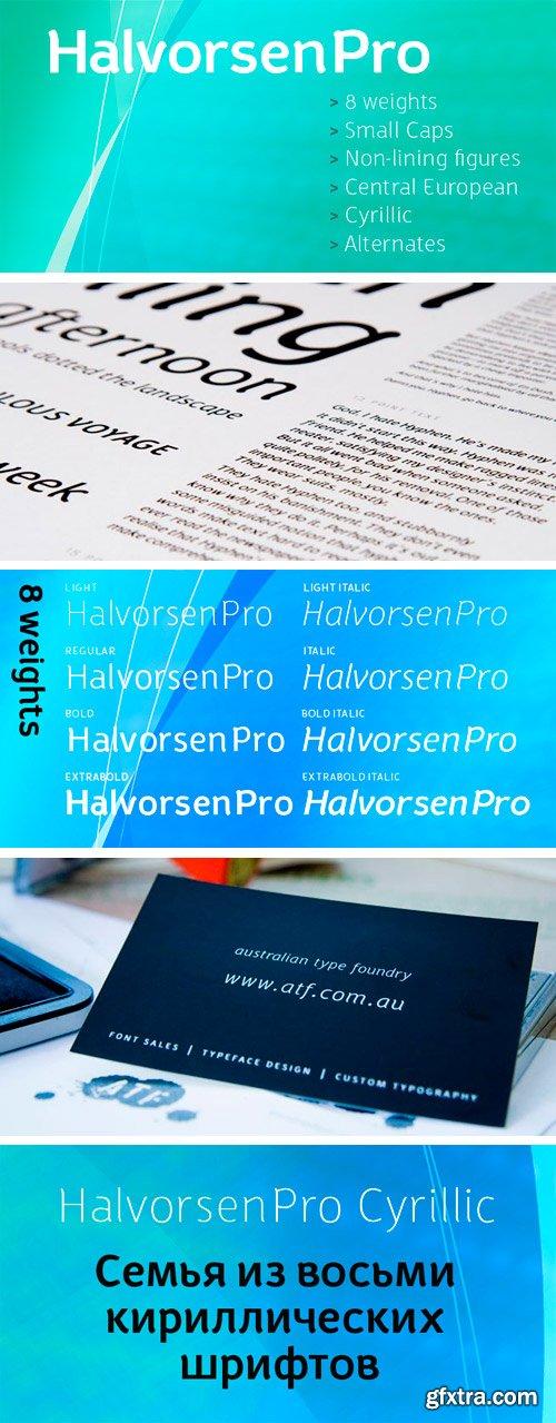 Halvorsen Pro Font Family