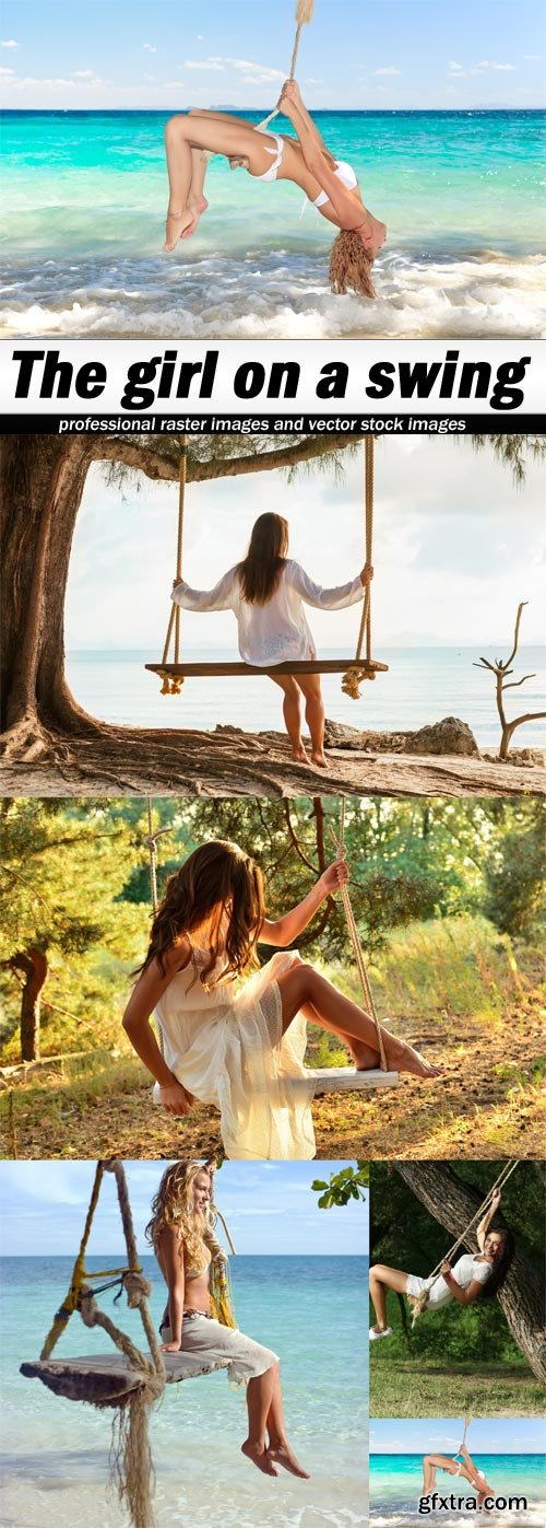 The girl on a swing