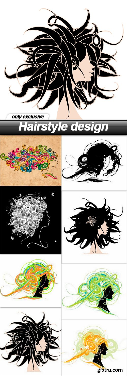Hairstyle design - 8 EPS