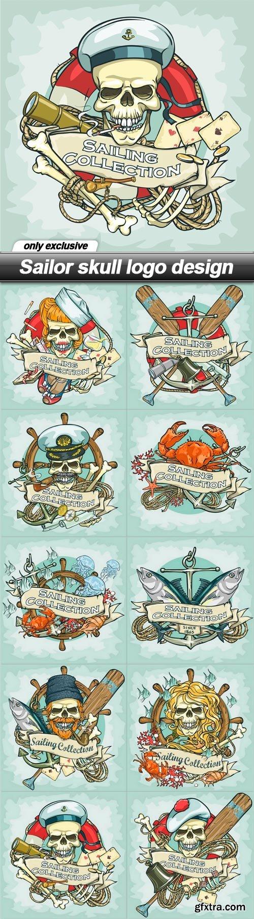 Sailor skull logo design - 10 EPS