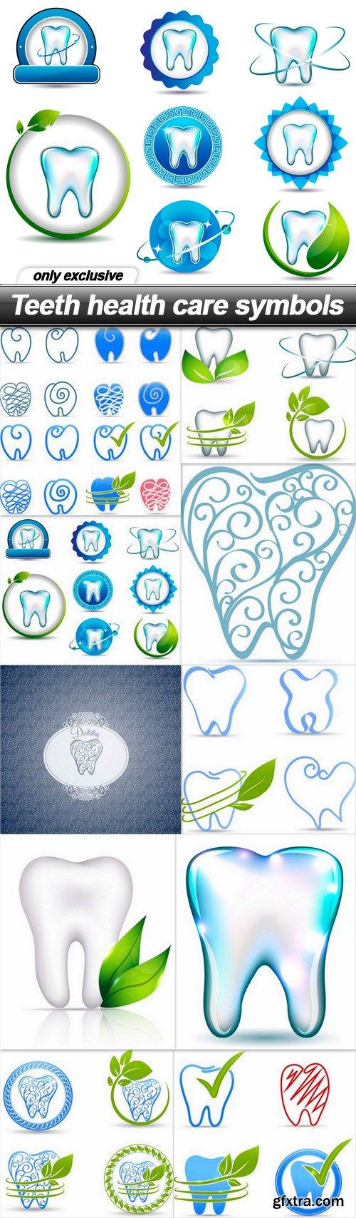 Teeth health care symbols - 10 EPS