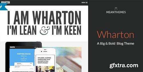 Wharton: A Big & Bold WordPress Blog Theme v1.2.3 - Themeforest 6928979