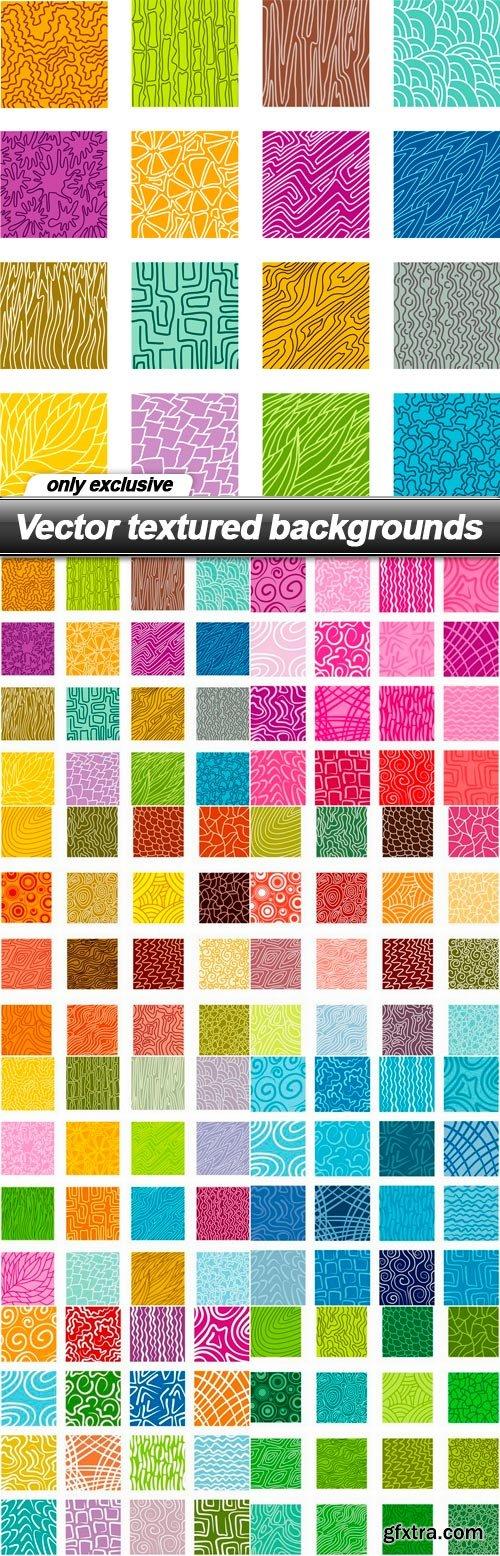 Vector textured backgrounds - 8 EPS