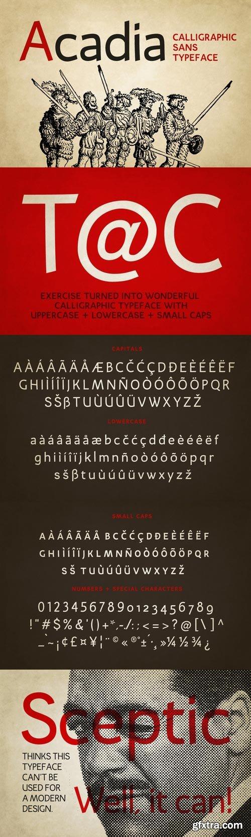 CM - Acadia typeface 333214