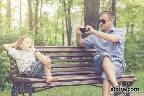Father and children playing - 5 UHQ JPEG