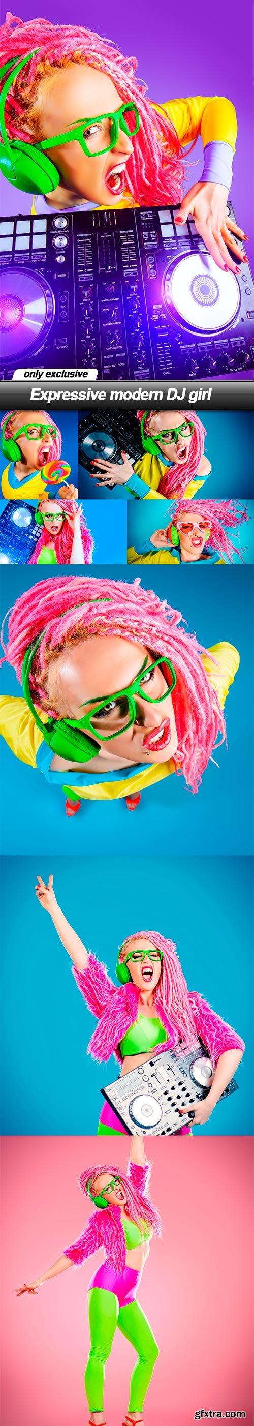 Expressive modern DJ girl - 8 UHQ JPEG