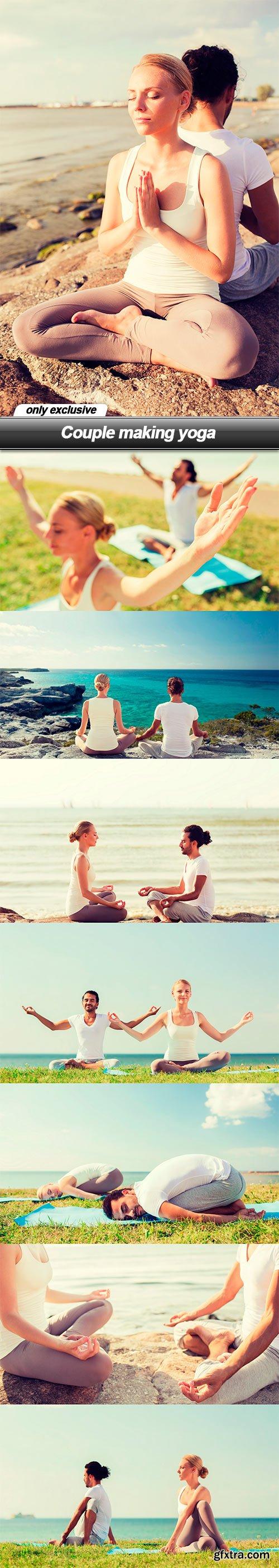 Couple making yoga - 8 UHQ JPEG