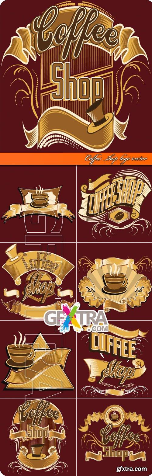 Coffee shop logo vector