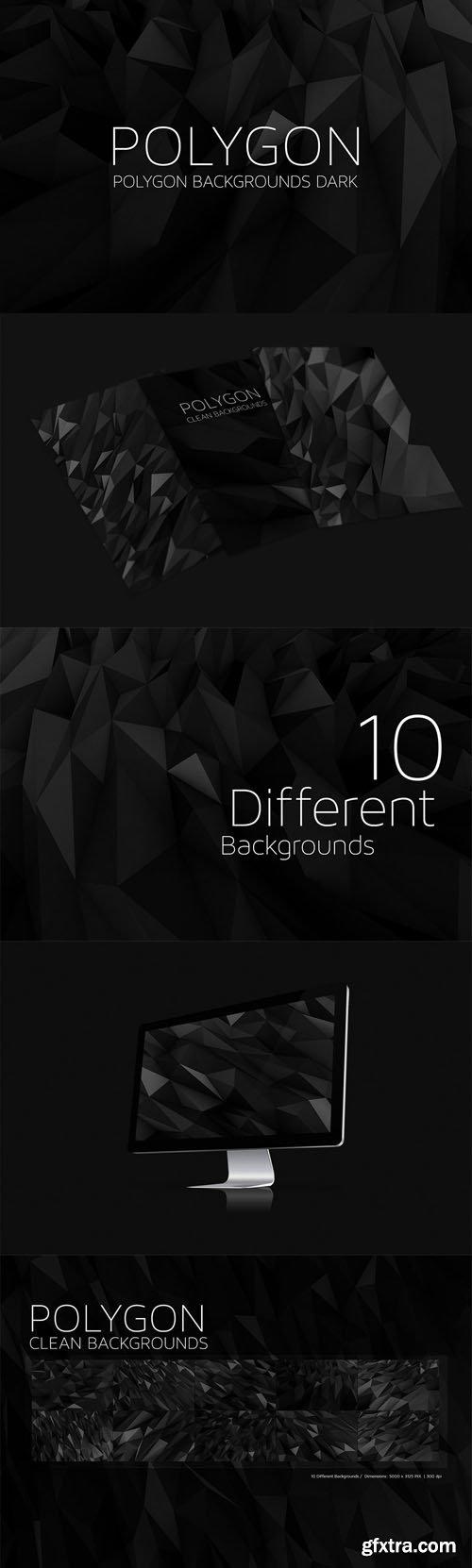 Polygon Backgrounds Dark V4 - CM 49764