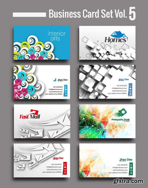 Corporate identity tri fold brochure flyer post card header vector set
