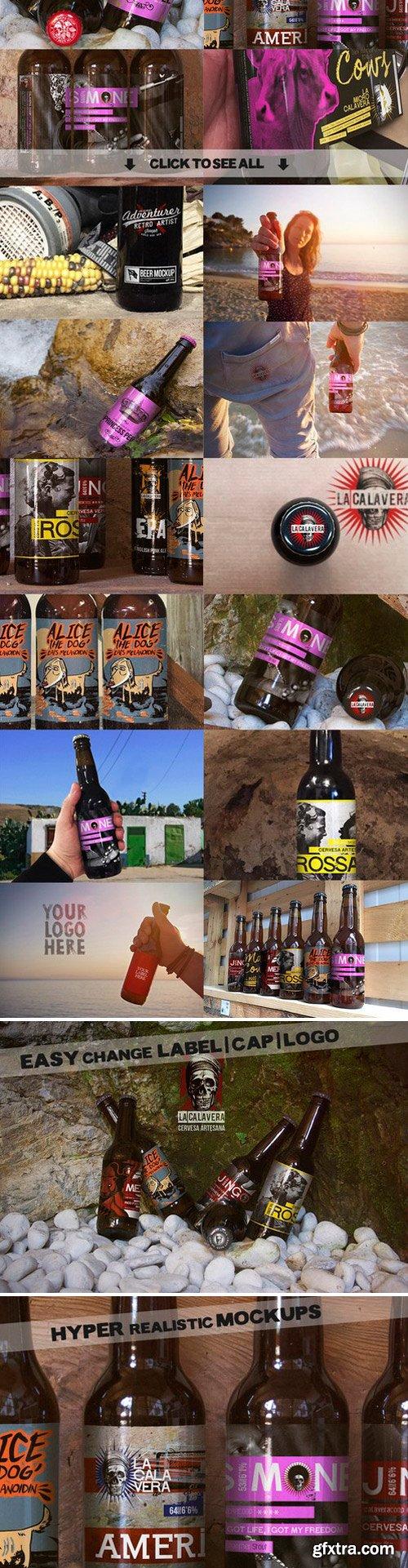 CM - 16 Beer Mockups Bundle