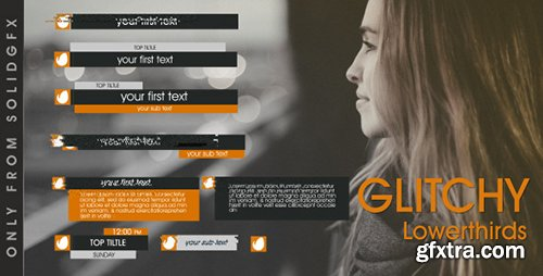 Videohive Glitchy Lowerthirds 11434143