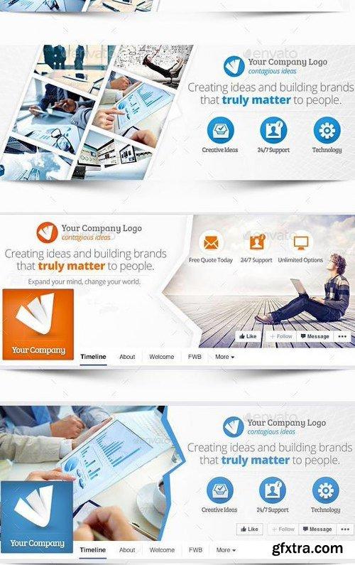 GraphicRiver Multipurpose Facebook Covers Bundle 48 PSD 12050886