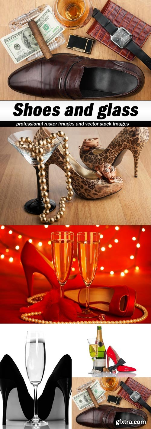 Shoes and glass