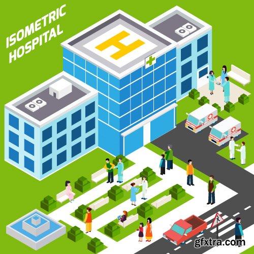 Isometric creative flat design icon vector 15