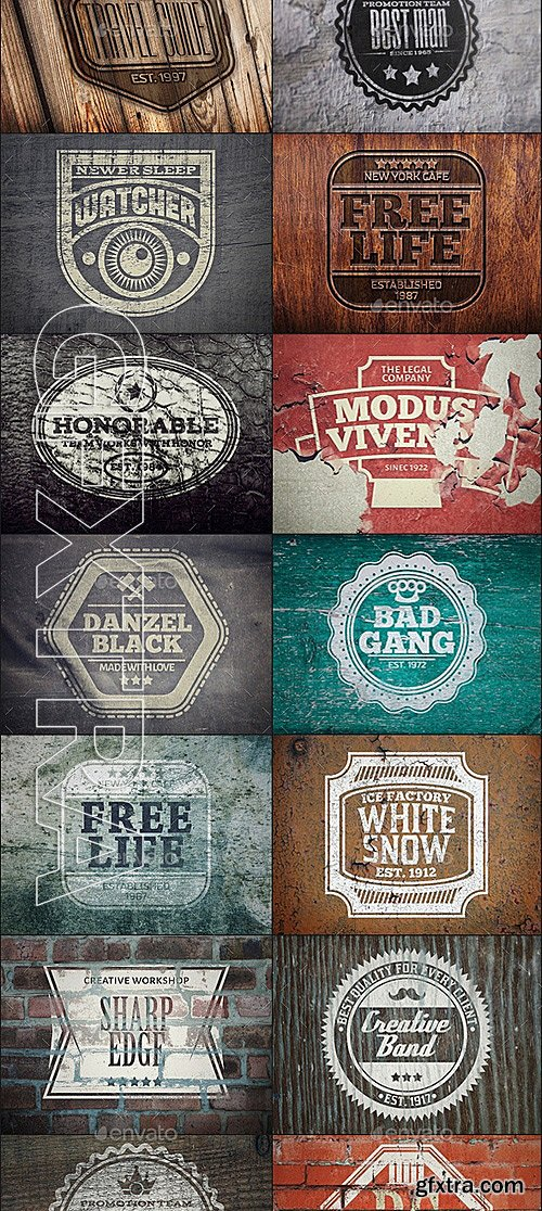GraphicRiver - 45 Vintage Logo Mock-Ups. Bundle v1 12343351