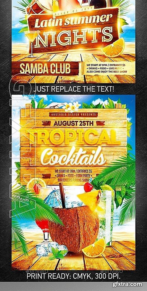 GraphicRiver - Summer Vacation Flyer Bundle vol2 12343027