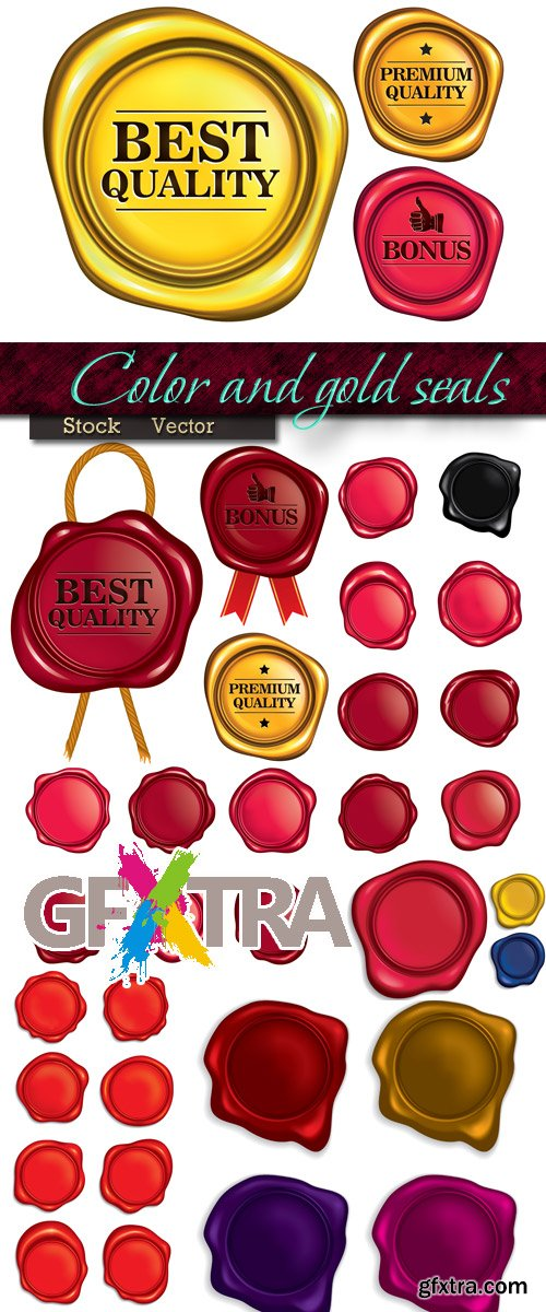 Color and gold seals