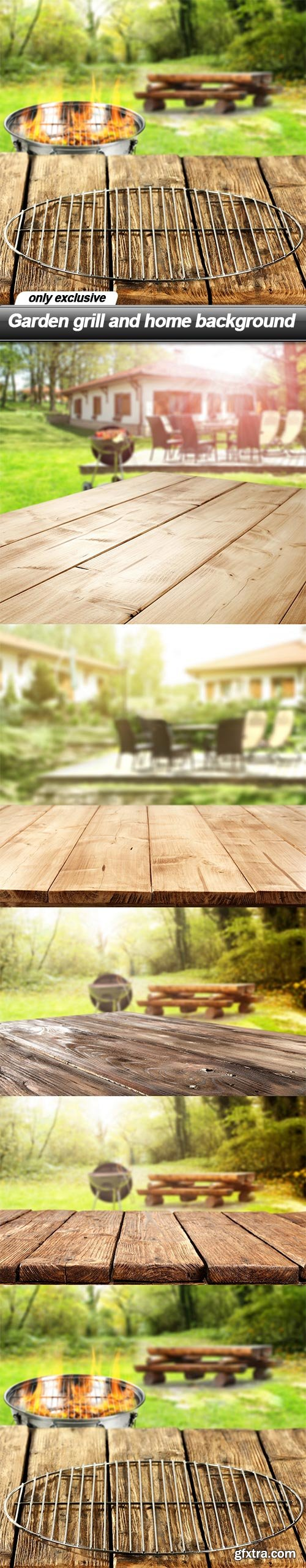 Garden grill and home background - 5 UHQ JPEG