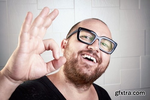Funny guy with glasses - 9 UHQ JPEG