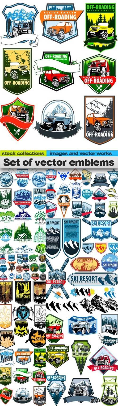 Set of vector emblems, 10 x EPS